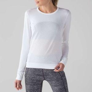 Lululemon Breeze By Long Sleeve White 10